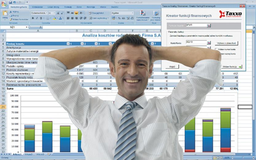 Taxxo e-Analizy Finansowe - wygodny controlling w Excelu z automatycznym pobieraniem danych z FK